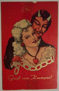Vintage Christmas Postcard Krampus | Flickr - Photo Sharing!