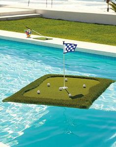 Practice lofting the perfect pitch over a water hazard with our Floating Golf Green. Fun for serious golfers and the entire family!