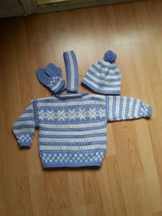 Sett med Fana-mønster Knit Crochet, Knitting, Projects, Sweaters, Fashion, Log Projects, Moda, Blue Prints, Tricot