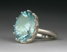 Beautiful aquamarine stone ring, also my favourite colour, and birthstone