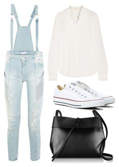 """""""#8"""" by nabjae ❤ liked on Polyvore featuring Pierre Balmain, Vanessa Bruno, Converse and Kara"""