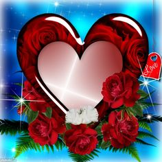 It'sMichelle's Valentine's Day Frames - 2014 - 2015 January - Heart with roses valentines Day Sailor Moon Wallpaper, Heart Wallpaper, Love Wallpaper, Beautiful Fantasy Art, Beautiful Artwork, Beautiful Roses, Imagenes Gift, Coeur Gif, Foto Frame