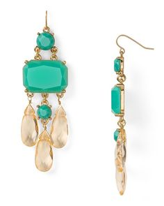 Turquoise + gold earrings.