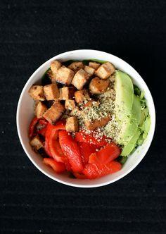 Sweet-and-Sour Marinaded Tofu Veggie Bowl