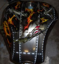 Top view bomber themed bike