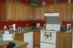 Kitchen Paint Color Ideas With Oak Cabinets Anyone And
