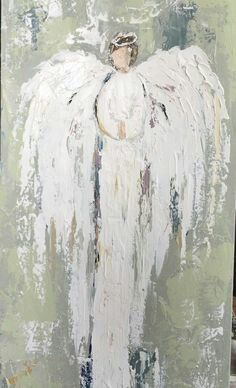 Angel prophetic art painting.
