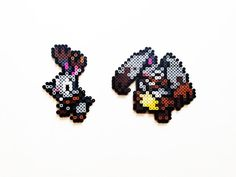 Pokemon X and Y Perler - Bunnelby / Diggersby by ShowMeYourBits on deviantART