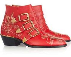 Studded Leather Boots #chloe #bullett