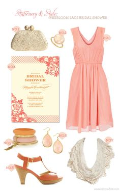 Wedding shower outfit idea. I am obsessed with coral right now!