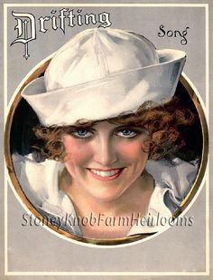 Drifting Song ~ Ladies, Vintage Illustration ~ Counted Cross Stitch Pattern #StoneyKnobFarmHeirlooms #CountedCrossStitch