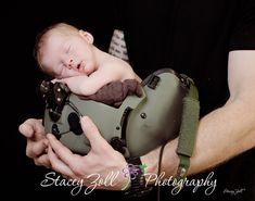 Newborn Portrait / Army Pilot / Military newborn photo / Pilot helmet / Stacey Zoll Photography / Manhattan, Kansas Newborn Photographer