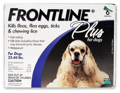 CLICK PICTURE TO PURCHASE!! from http://planetdogz.net/product/merial-frontline-plus-flea-and-tick-control-for-23-to-44-pound-dogs-and-puppies-6-pack/  Merial Frontline Plus Flea and Tick Control for 23 to 44-Pound Dogs and Puppies, 6-Pack