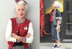 Moda na terceira idade pode ser supercool! Sarah Jane Adams é prova disso