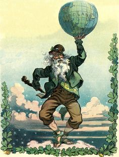 On Saint Patrick's Day an Irishman's idea of the World -  Vintage Image. $4.90, via Etsy.