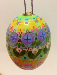 Hand-painted Easter Egg by polkadotponie on Etsy
