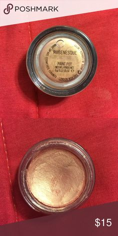 Mac Rubenesque Paint Pot This is my absolute favorite cream eyeshadow ever. Sad to be letting it go but application of it is hard with tips... Still 90% of product left. Beautiful shimmery champagne peachy color. Perfect base for Eyeshadows. Please don't hesitate to ask any questions you have. Don't like my price? Make an offer. 20% OFF ANY BUNDLE MAC Cosmetics Makeup Eyeshadow
