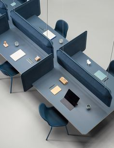 Office furniture design - PET Felt Furniture Flexible Workplaces The totally recycled collection by De Vorm – Office furniture design Office Furniture Inspiration, Office Furniture Design, Workspace Design, Office Workspace, Office Interior Design, Office Interiors, Corporate Office Design, Law Office Design, Bureau Open Space