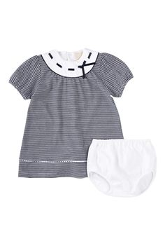 Striped Dress & Bloomer Set (Baby Girls)