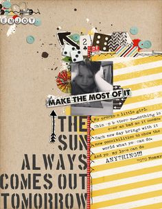 Make the Most Of It - 8.5x11 Digital Layout