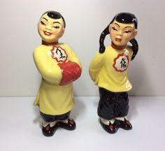 Chinese Figurines, Half Dolls, Girl Standing, Shoe Clips, Powder Puff, Bathing Beauties, Hand Painted Ceramics, Asian Boys, Ceramic Art