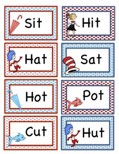Cat In The Hat Rhyming Smart Board Activity