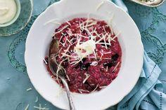 Risotto met rode wijn en slagroom; heerlijk kerst recept!