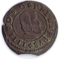 16 Maravedis 1664 Felipe IV Madrid. Cobre.