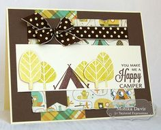 August SOTM Happy Camper Card by Monika Davis #Cardmaking, #Stampofthemonth, http://tayloredexpressions.com/kits.html