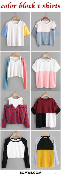 color block t shirts