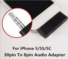 30pin To 8pin Audio Adapter Support IOS 8 Audio Charge and Sync Data For iPhone 5 5S 5C Converter Charger With packing
