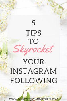 5 tips to skyrocket your Instagram following More Instagram Followers, Instagram Marketing Tips, Instagram Story Ideas, Media Marketing, Internet Marketing, Digital Marketing, Marketing Articles, Affiliate Marketing, Online Marketing
