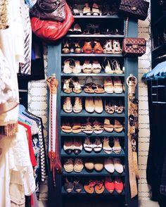 Textured, fun closet