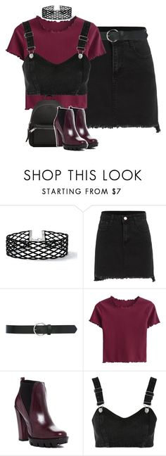 """""""Burgundy."""" by krys-imvu ❤ liked on Polyvore featuring Miss Selfridge, M&Co, Charles David, Topshop and MANGO"""