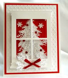 Tree in acetate-backed window (punched branches) - 3