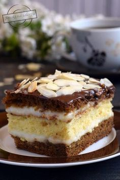 Polish Desserts, Polish Recipes, Patisserie Design, Lemon Cheesecake Recipes, Chocolate Desserts, Yummy Cakes, Cakes And More, Sweet Recipes, Baking Recipes