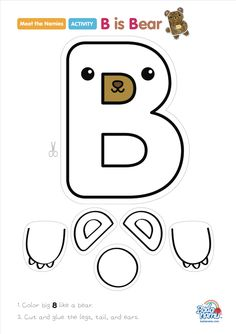 B is Bear' craft! A whole craft series to go with our Meet the Nemies video series available at badanamu.com. Enjoy!