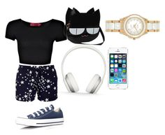 """""""Just Like Any Star or Diamond I Will Not Be Forgotten"""" by jahyrahbaby ❤ liked on Polyvore featuring Boohoo, Converse, Beats by Dr. Dre and DKNY"""