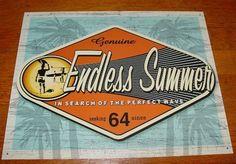 GENUINE ENDLESS SUMMER Retro 60's Style Surfing Surfer Beach Home Decor Sign NEW #EndlessSummer #Tropical