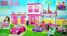Barbie Mega Bloks DELUXE Fab Beach House 4 Dolls Convertible Car Ice Cream Cart #MegaBloks