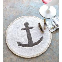 liebevoll gestaltete runde Fußmatte bringt wunderschön maritimes Feeling ins Haus