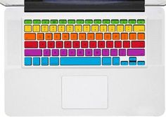 WANT. A rainbowMacbook decal Macbook sticker Mac decal Mac by Decaldazzle, $10.99