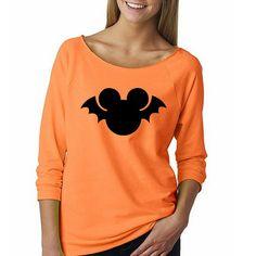 Disney Mickey Bat Halloween Shirt // Mickey's by HimAndGem on Etsy