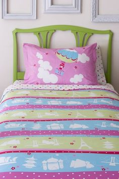 """Around the World"" twin bedding set, rosenberryrooms.com, $131"