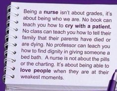 Thank you for some positive remarks about nursing school that don't freak me out!