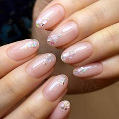 crystal nail glitter on the tips // new years nails