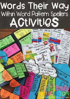 Engaging activities that help keep you organized, and are all in one spot! Get students excited about Words Their Way!