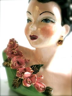 Mid Century Lady Bust Head Vintage Collectable by LemonRoseStudio, $45.00