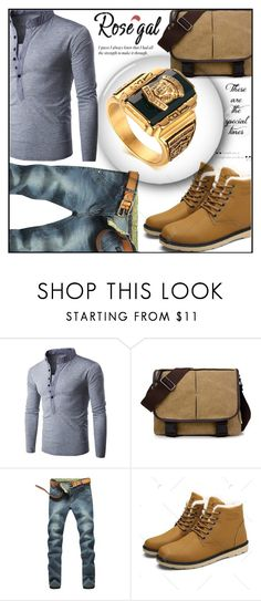 """""""Rosegal 90"""" by aida-ida ❤ liked on Polyvore featuring men's fashion, menswear, Beauty, shoes, clothes and accesories"""