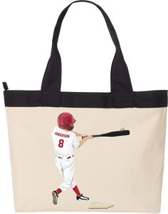 Custom Tote Bags!  Personalize with your childs name and number, and customize with his/her uniform colors!